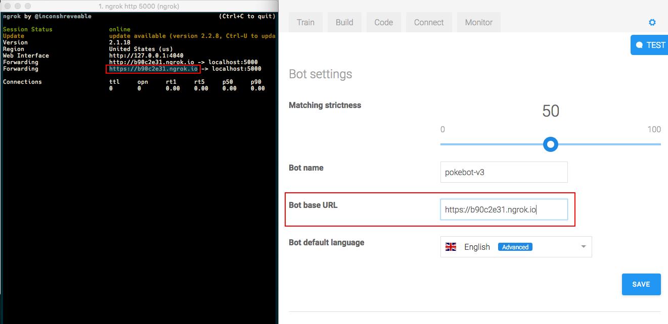 Pokébot - bot base URL