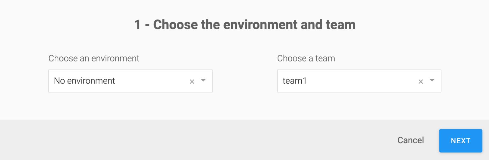 SAP Conversational AI environment_choose_env