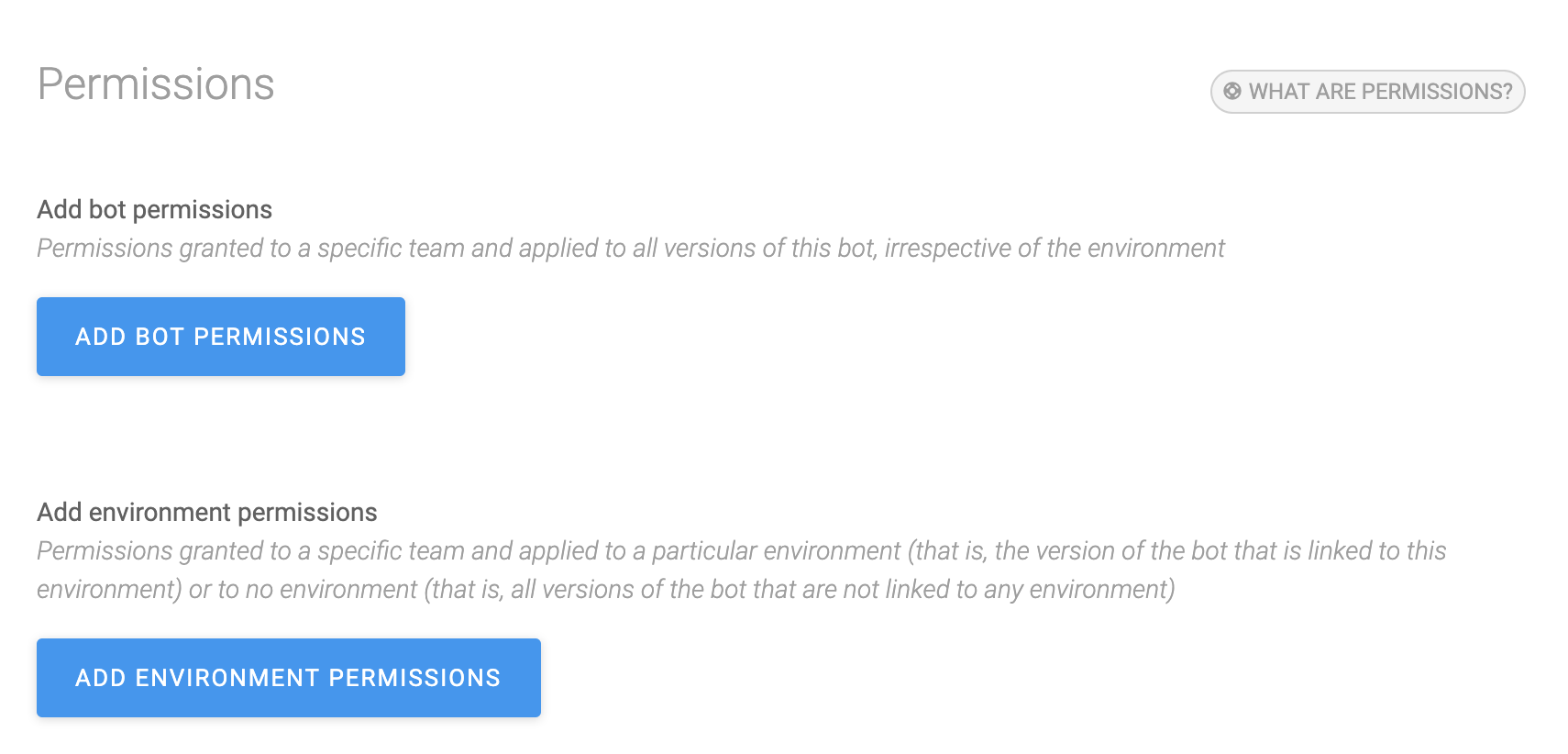 SAP Conversational AI organization_permissions